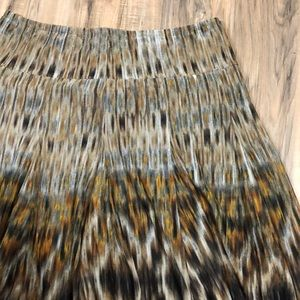 Coldwater Creek Water Color Flow Skirt